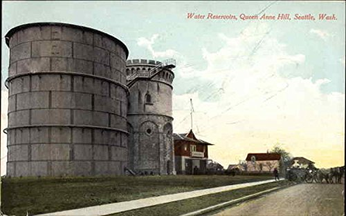 Water Reservoirs on Queen Anne Hill Seattle, Washington Original Vintage Postcard