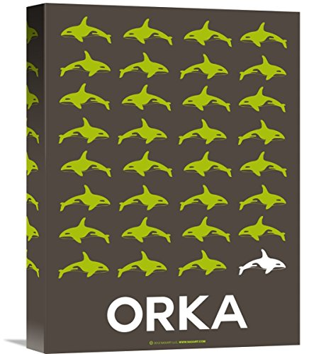 """Naxart Studio """"Orca Poster"""" Giclee on Canvas, 12"""" by 1.5"""" by 16"""" from Naxart Studio"""