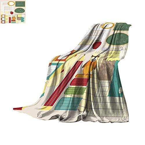 - Angoueleven Queen Size Blanket School Scrapbook Set Throw Blanket 60
