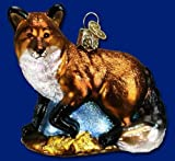 Old World Christmas Red Fox Glass Blown Ornament