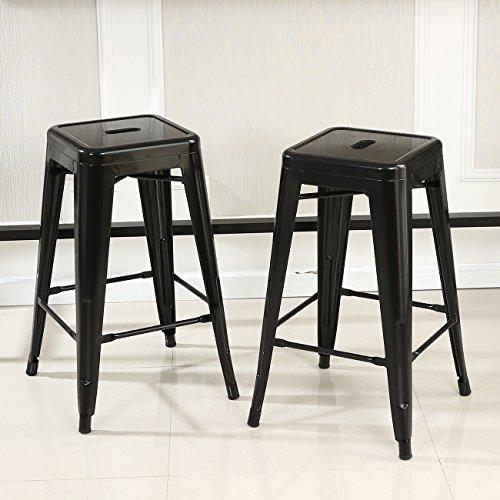 Belleze Backless Indoor Outdoor Barstool