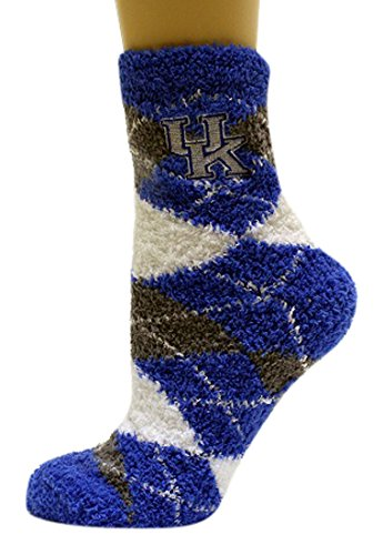 - NCAA Kentucky Wildcats Argyle Fuzzy Socks, One Size, Blue