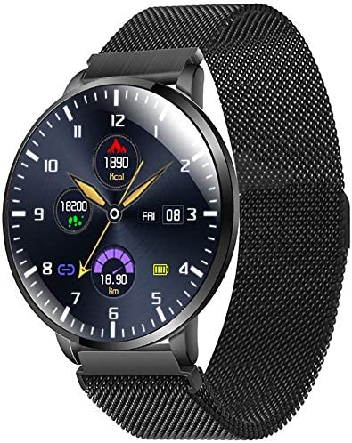 AIWATCH Smart Watch 2020 Version for Men Women Sleep Tracking Analysis Fitness Tracker Blood Pressure Monitor Heart Rate Monitor IP68 Waterproof Compatible with iPhone Samsung Android Phones (Black) 51om9z1mNZL