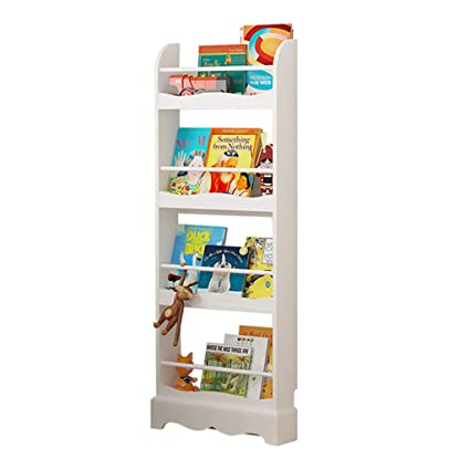 Librerías Estante para Libros Estantería Simple de Suelo estantería de Madera Maciza Soporte de Libro ilustrado