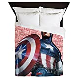 CafePress - Captain America - Queen Duvet Cover, Printed Comforter Cover, Unique Bedding, Microfiber