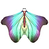 LIVEBOX Boys Girls Monarch Butterfly Wings Dress Up Shawl Cape Scarf Kids Costume Accessary (Blue-Purple)
