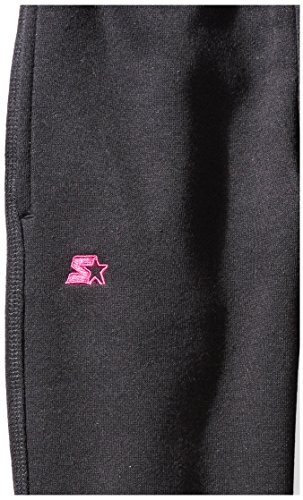Starter Girls' Jogger Sweatpants Pockets, Prime Exclusive, Black Power Pink Logo, M (7/8) by Starter (Image #3)