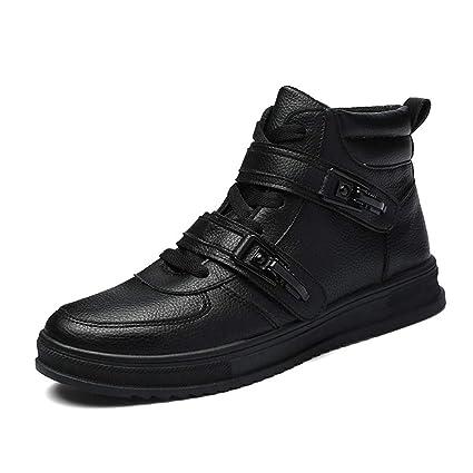 7e4459d6780c7 YAN Bottes pour Hommes Chaussures de Pont Montantes Mode Chaussures de  Sport Street Dance Chaussures de
