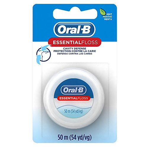 Oral-B Essential Floss Mint Waxed, 54 Yd (Pack of 24)