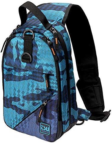 Bassdash Water Repellent Waterproof Sling Fishing Bag Portable Shoulder Tackle Backpack