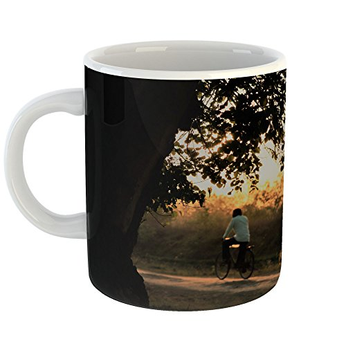Westlake Art - Sunset Tree - 11oz Coffee Cup Mug - Modern Picture Photography Artwork Home Office Birthday Gift - 11 Ounce (983C-CAFB5) - Sunlight Villager