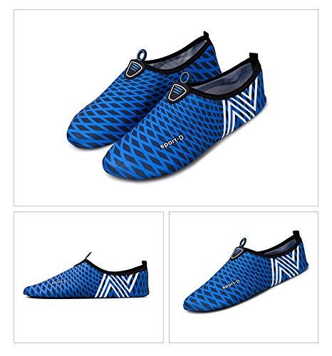 Humasol Uomo Donna Leggero Quick-dry Aqua Shoes Calzini Multifunzionali Per Piscina Da Spiaggia Blu Scuro