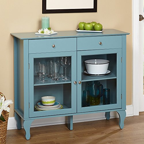 Simple Living Layla Antique Blue Buffet Cabinets For Sale