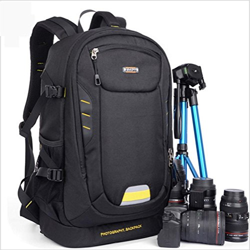 SLR Rucksack functional backpack Multi ultra waterproof Camera lightweight camera Daypack pack Black Laptop ZXJ XzTq55