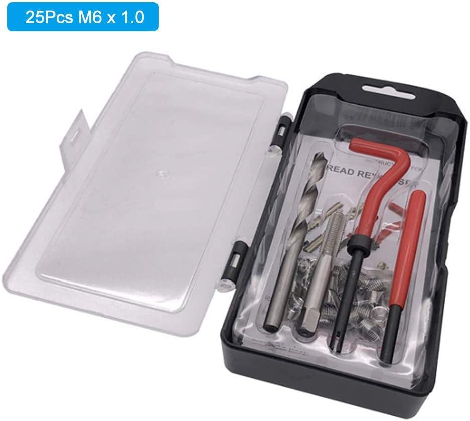 Montloxs 15 St/ück M12 x 1,25 Gewindereparatursatz Helicoil-kompatibles 12 mm besch/ädigtes Gewinde