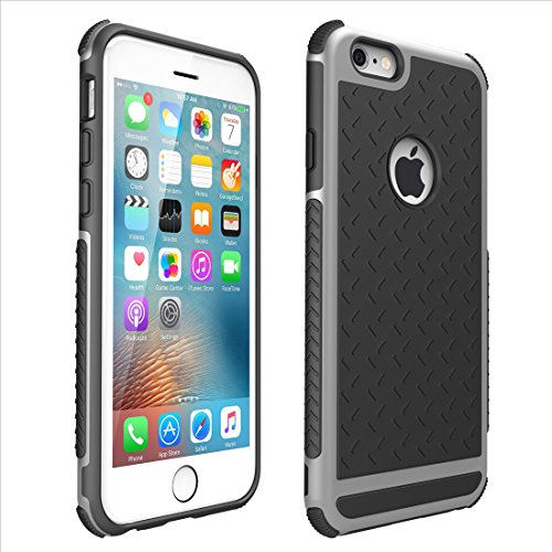 Solobay iphone case Apple IPhone 6 plus 6S PLUS Shock Absorbing Sports Cell Phone Case rugged shockproof case heavy duty case (5.5 inch ) cell phone case (SILVER)