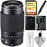 Fujifilm GF 120mm f/4.0 R LM OIS WR Macro Lens with 128GB Card + Battery & Charger + Kit for GFX 50S Digital Camera