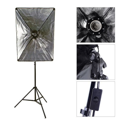 StudioFX 800W Photography 20''x28'' EZ Softbox with E27 Socket Light Lighting Kit (Set of 2) H601S2 by StudioFX (Image #3)