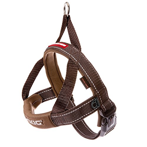 EzyDog Premium Quick Fit Adjustable No-Pull Dog Harness Vest with Reflective Stitching - Perfect for Training, Walking, and Control - Padded for Comfort (Small, Chocolate)