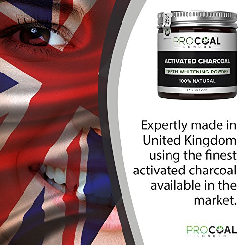 Large Product Image of Activated Charcoal Teeth Whitener by PROCOAL – Fast-acting Charcoal Teeth Whitening Toothpaste Powder - 60g