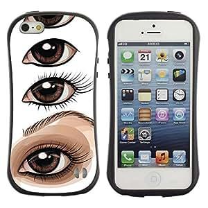 "Pulsar iFace Series Tpu silicona Carcasa Funda Case para Apple iPhone SE / iPhone 5 / iPhone 5S , Dibujo Ojo Pintura Lección artista"""