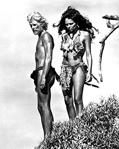 Julie Ege and Tony Bonner in Creatures the World Forgot cavegirl costume barechested 16x20 Canvas