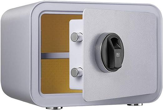 Caja fuerte certificada de la oficina, gabinete con llave Antirrobo Huella digital inteligente Contraseña electrónica Estructura de acero Perno de bloqueo sólido Oficina en el hogar 350 * 280 * 25: Amazon.es: Hogar