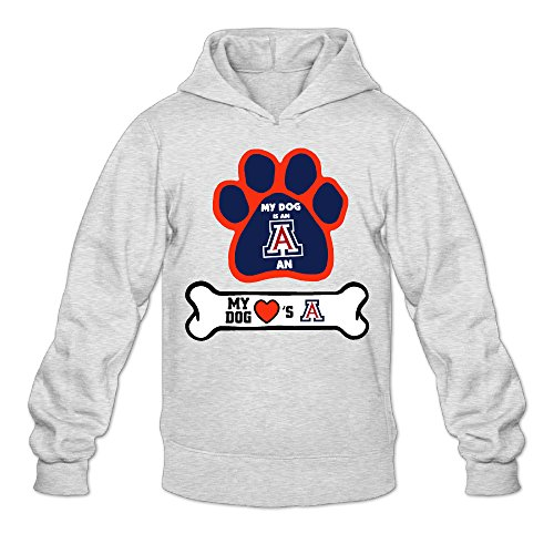 MARC Men's University Of Arizona Hooded Sweatshirt Ash Size XXL