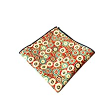 Sitong Men's suits cotton printed pocket square handkerchiefs