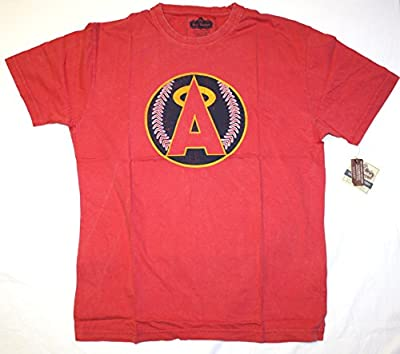 Los Angeles Angels Of Anaheim Big A Retro Logo T-Shirt by Red Jacket
