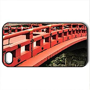 japanese bridge - Case Cover for iPhone 4 and 4s (Bridges Series, Watercolor style, Black)