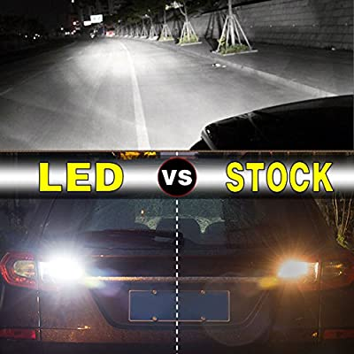 YITAMOTOR 2x 921 LED Reverse Light Bulbs, T15 906 W16W 912 LED Replacement Bulb for Backup/Back Up Lights, White Extremely Bright 1200 Lumens, Canbus Error Free, 24-SMD 3030 PX Chipsets, DC 12V 4.5W: Automotive