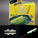 fishing light sticks - QualyQualy Clip On! Fishing Glow Stick 100Pcs L 2.7-3.2mm Fluorescent Light stick Dry Type Luminous Wand Tubes Snap On Fishing Rod Top