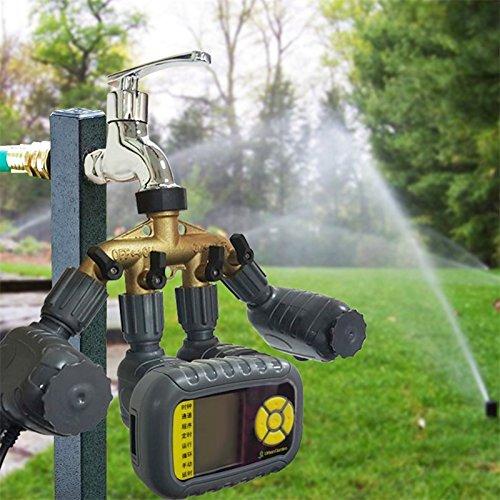 Ocamo Automatic Sprinkler System Kit Solar-Powered Water Sprayer Outdoor Smart Irrigation Timer
