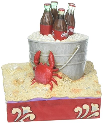 Enesco 3.46 Inches Height x 3.15 Inches Width x 3.27 Inches Length Coke Ice Bucket on Beach Collectible Figurine