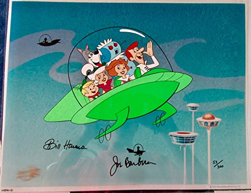 Jetsons Hanna Barbera Signed Cel JETSONS JOYRIDE Rare Animation Art cell - Hanna Barbera Animation Art