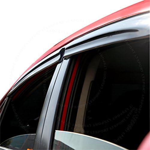FOR 93-97 TOYOTA COROLLA SMOKED OUTSIDE MOUNT WINDOW VISOR WIND RAIN DEFLECTOR