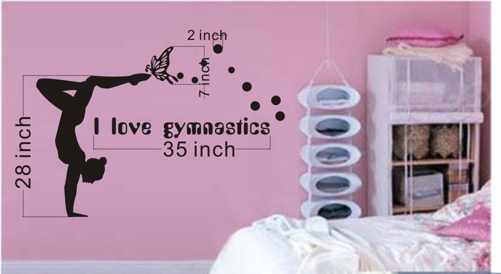 Charmant Amazon.com: Large  Easy Instant Decoration Wall Sticker Wall Mural Gym I  Love Gymnastics (an009): Home U0026 Kitchen