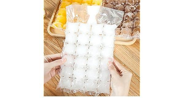 Compra SODIAL 100pcs bolsas para hacer hielo desechable Molde bandeja de cubitos de hielo Hace vasos de chupito Molde de hielo Regalos en Amazon.es