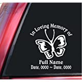Personalized In Loving Memory Vinyl Decal Sticker - Butterfly