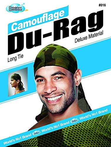 Dream Camouflage Durag Deluxe Material Long Tie DREAM016