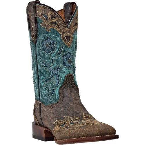 Dan Post Ladies Bluebird Sq Toe Western Boots 6.5