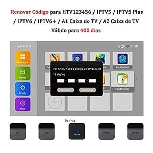 SOUDIO 16 Dígitos Código De Ativação for HTV12345 / IPTV5 / IPTV5 Plus / IPTV6 / IPTV6+ / IPTV6 Plus / A1 / A2 Brasil Brasileiro Portuguese TV Box Renovação Renovar Código Válido para 400 Dias