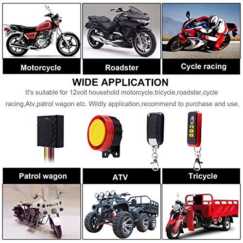 Motorcycle Security Kit Alarm Anti-Hijacking Cutting Off Remote Engine Start