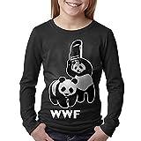 Boy's Or Girl's WWF Funny Panda Bear Wrestling Cotton Long Sleeve T-Shirt