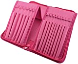 Paint Brush Holder - Organizer for 15 Long Handle Brushes - Storage for Acrylic, Oil & Watercolor Art Paintbrushes - Artists' Quality Supplies by MyArtscape™ (Hot Pink)