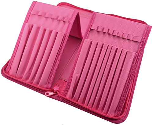 Paint Brush Holder - Organizer for 15 Long Handle Brushes - Storage for Acrylic, Oil & Watercolor Art Paintbrushes - Artists' Quality Supplies by MyArtscape™ (Hot Pink) by MyArtscape