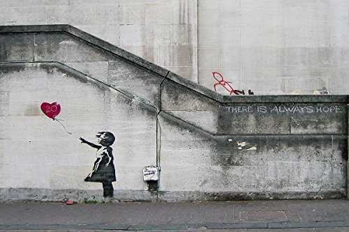There Is Always Hope, Balloon Girl by Banksy 36x24 Giclee Pr
