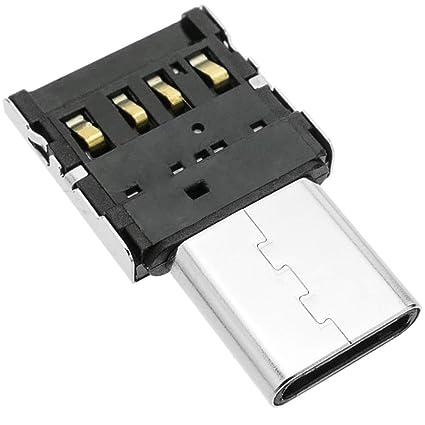 BeMatik - Mini adaptador OTG USB 2.0 USB tipo C macho a USB ...