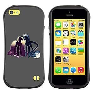 All-Round híbrido de goma duro caso cubierta protectora Accesorio Generación-I BY RAYDREAMMM - Apple iPhone 5C - Pony Horse Love Fairytale Dreams Symbolic Art